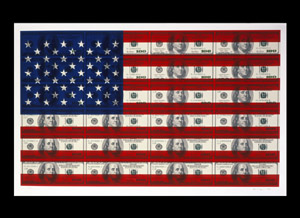 Untitled ($100 U.S. Flag on Coventry Rag Paper)