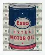 Esso Oil Can Print